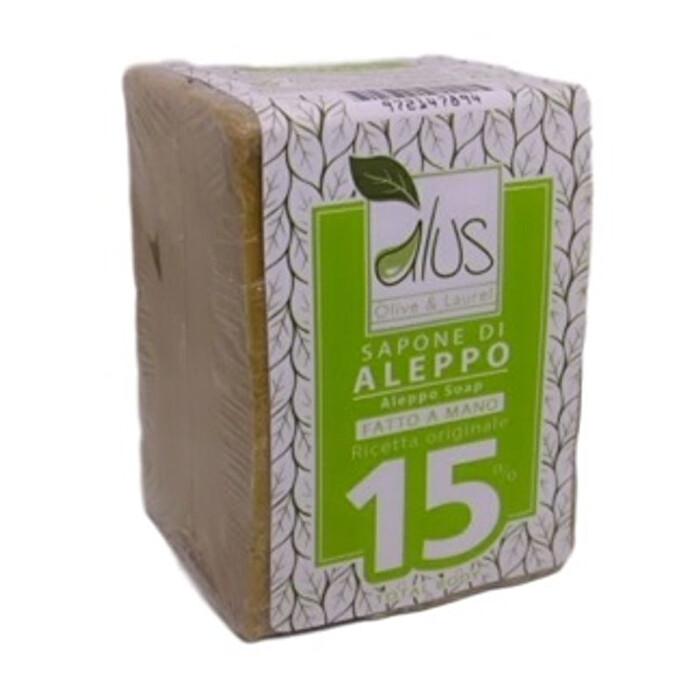 """Featured image for """"Sapone naturale di Aleppo 15% olio di Alloro"""""""