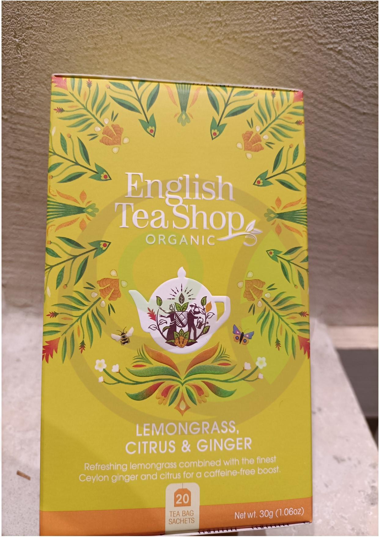 """Featured image for """"English Tea Shop Citronella Agrumi e Zenzero Organico"""""""