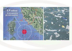 isola di plastica galleggiante - Mar Tirreno