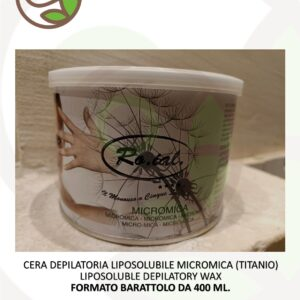CERA DEPILATORIA LIPOSOLUBILE MICROMICA 400ML. RO.IAL.