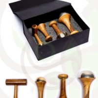 Set bacchette Kansa massaggio ayurvedico