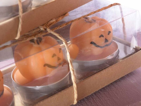 Candeline Halloween zucca fantasma confezione 3 pezzi