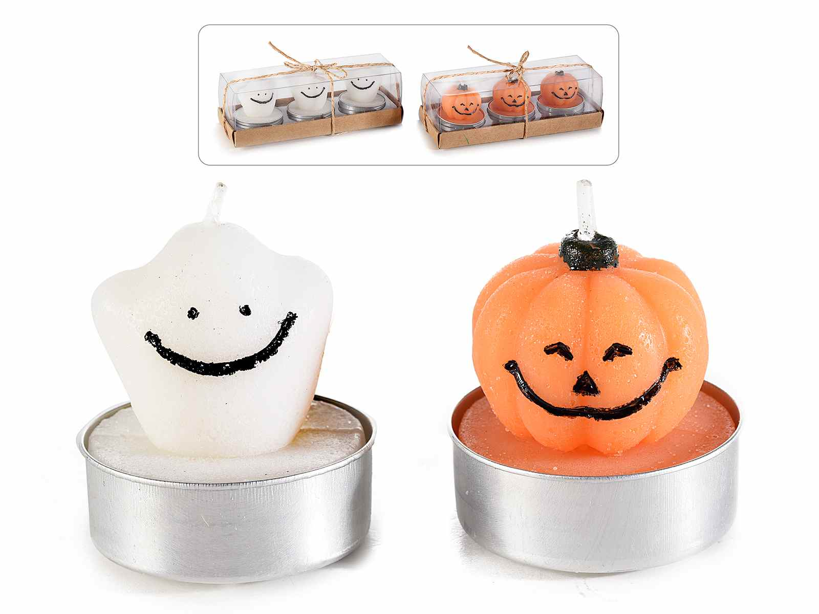 """Featured image for """"CANDELINE HALLOWEEN ZUCCA FANTASMA CONF. 3 PEZZI"""""""